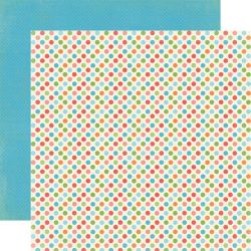 CARTA BELLA USA # DEAR LITTLE DOTS - Дизайнерски двустранен скрапбукинг картон 30,5 х 30,5 см.