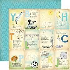 CARTA BELLA USA # BOY NURSERY RHYMES - Дизайнерски двустранен скрапбукинг картон 30,5 х 30,5 см.