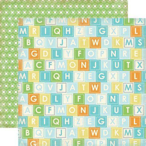CARTA BELLA USA # ALPHABET BLOCKS - Дизайнерски двустранен скрапбукинг картон 30,5 х 30,5 см.