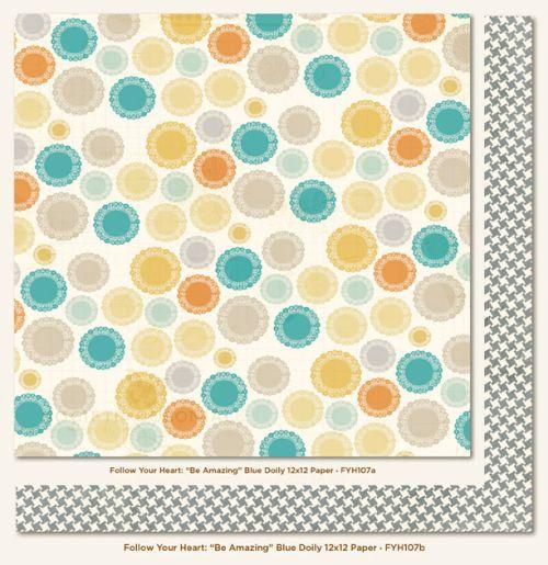 MME USA #  FOLLOW YOUR HEART - Дизайнерски двустранен картон 30,5 х 30,5 см.