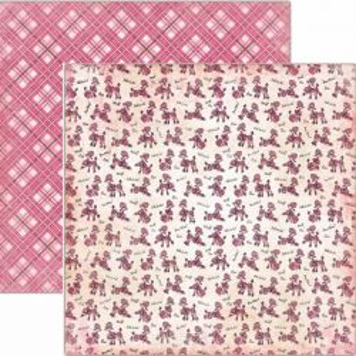 CARTA BELLA  USA , PARISIAN POODLES - Дизайнерски скрапбукинг картон 30,5 х 30,5 см.