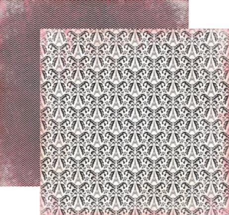 CARTA BELLA  USA , EIFEL TOWER - Дизайнерски скрапбукинг картон 30,5 х 30,5 см.