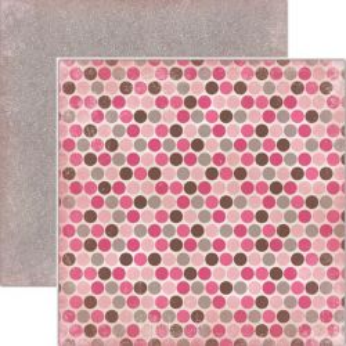 CARTA BELLA  USA , FRENCH DOTS - Дизайнерски скрапбукинг картон 30,5 х 30,5 см.