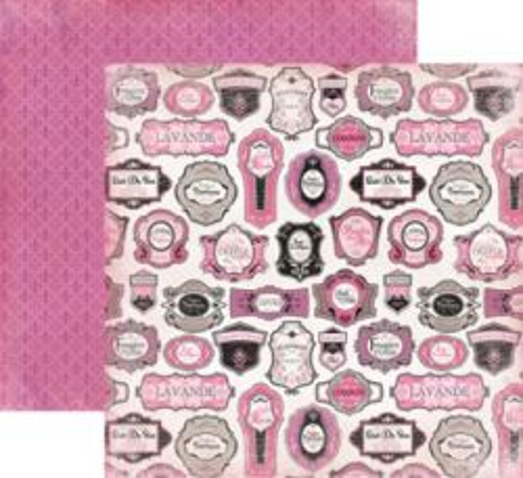 CARTA BELLA  USA , FRENCH LABELS - Дизайнерски скрапбукинг картон 30,5 х 30,5 см.