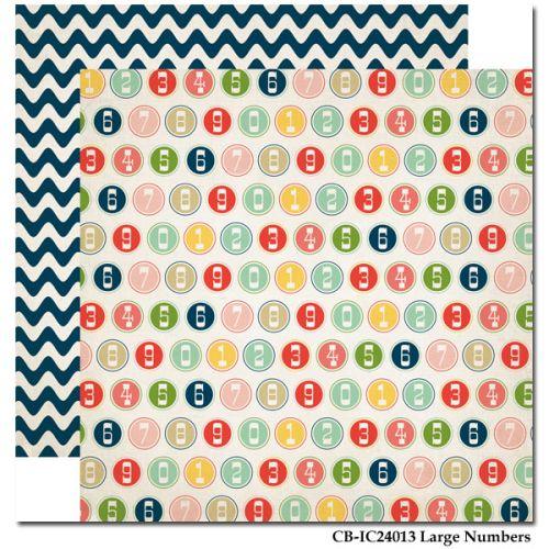 CARTA BELLA  USA , NUMBERS - Дизайнерски скрапбукинг картон 30,5 х 30,5 см.