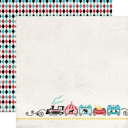 CARTA BELLA  USA , CIRCUS TRAIN - Дизайнерски скрапбукинг картон 30,5 х 30,5 см.