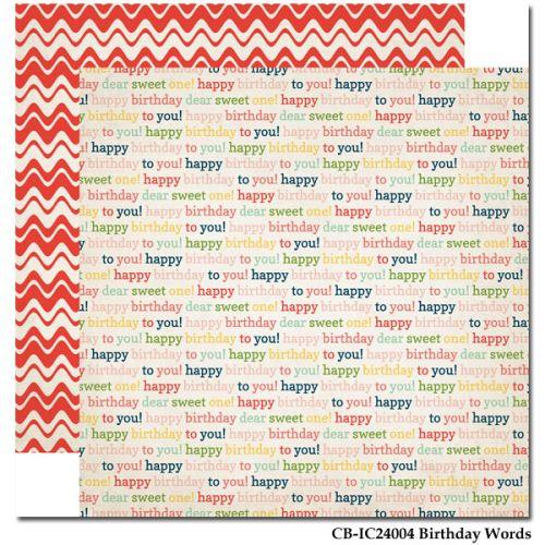 CARTA BELLA  USA , BIRTHDAY WORDS - Дизайнерски скрапбукинг картон 30,5 х 30,5 см.