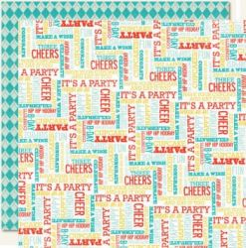 MME USA #  HIP HOORAY - Дизайнерски двустранен картон 30,5 х 30,5 см.