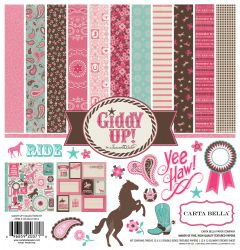 "Carta Bella Giddy Up Girl Collection Kit 12"" x 12""- Дизайнерски блок 30.5 X 30.5"