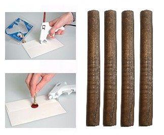 ARTEMIO WAX 7mm  - Восък пръчки за печат 4 бр BRONZE