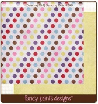 FANCY PANTS USA # DANCING GIRL - Дизайнерски двустранен скрапбукинг картон 30,5 х 30,5 см.