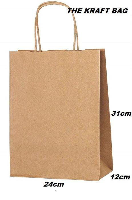 THE KRAFT BAG  - КРАФТ ТОРБА  31/24/12 см.