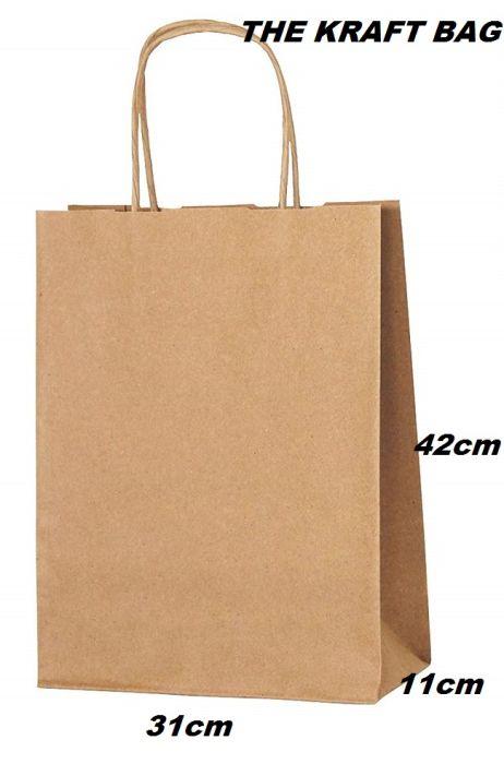 THE KRAFT BAG XL - КРАФТ ТОРБА  31/42/11 см.