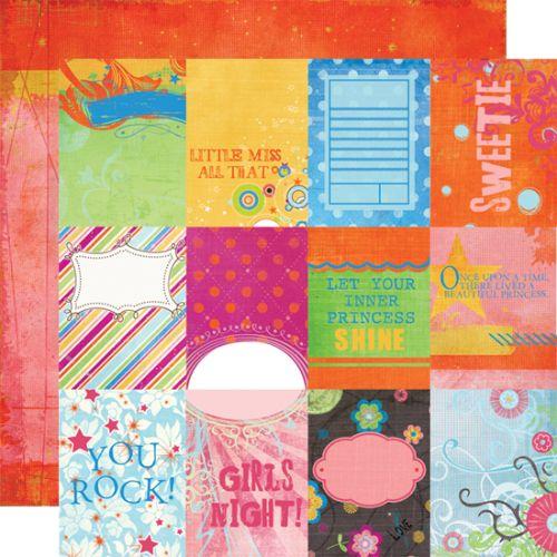 FANCY PANTS USA # ABOUT A GIRL - Дизайнерски двустранен скрапбукинг картон 30,5 х 30,5 см.