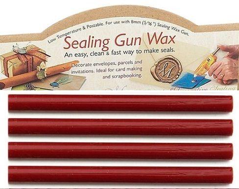 MANUSCRIPT FLEXIBLE WAX 8mm  - Восък пръчки за печат 4 бр  RED