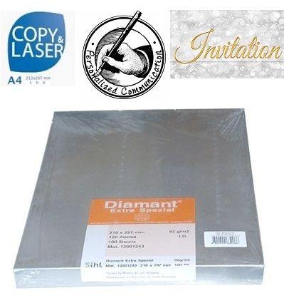 DIAMANT EXTRA SPEZIAL 92g A4 - Бял транспарентен оризов паус 100 листа