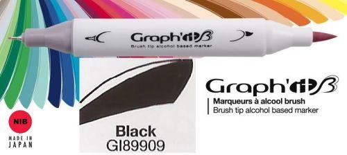 # GRAPH IT BRUSH MARKER - Двувърх дизайн маркери ЧЕТКА - ЧЕРЕН