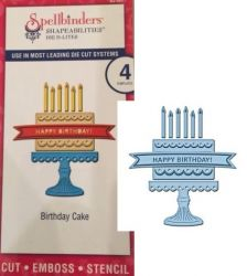 BIRTHDAY Spellbinders USA - шаблон за изрязване и ембос s2-081