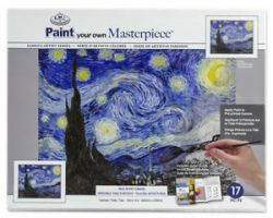 PAINTING MASTER SET ,USA - Мастър сет рисуване на платно STARRY NIGHT