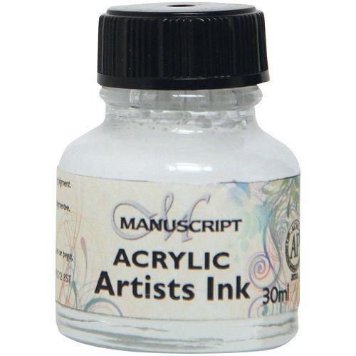 MANUSCRIPT ARTIST ACRYLIC  INK - WHITE