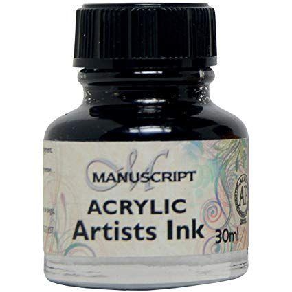MANUSCRIPT ARTIST ACRYLIC  INK - BLACK