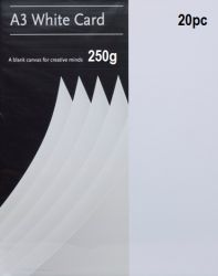 PREMIUM WHITE CARD A3 250g 20pc . - ПРЕМИУМ КАРТОН А3 250г / 20 листа