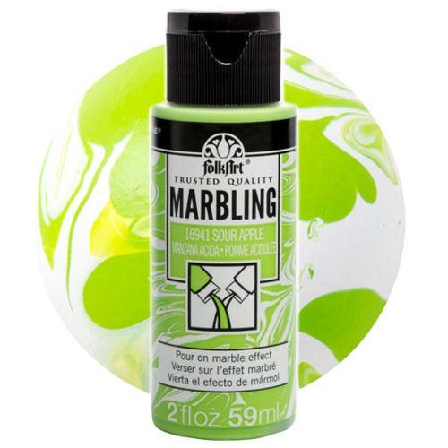 FOLK ART  NEW MARBLING PAINT - Боя за мраморен ефект 59мл APPLE / ЯБЪЛКА