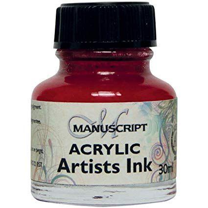 MANUSCRIPT ARTIST ACRYLIC  INK - CRIMSON