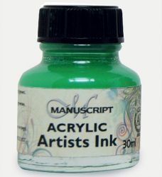 MANUSCRIPT ARTIST ACRYLIC  INK - EMERALD GREEN