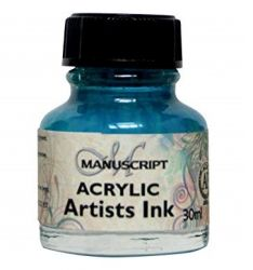 MANUSCRIPT ARTIST ACRYLIC  INK - TURQUOISE