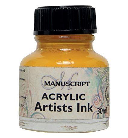 MANUSCRIPT ARTIST ACRYLIC  INK - BRILLIANT YELLOW