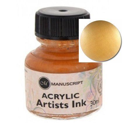 MANUSCRIPT ARTIST ACRYLIC  INK - GOLD