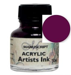 MANUSCRIPT ARTIST ACRYLIC  INK - PURPLE