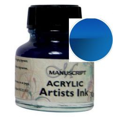 MANUSCRIPT ARTIST ACRYLIC  INK - OCEAN BLUE