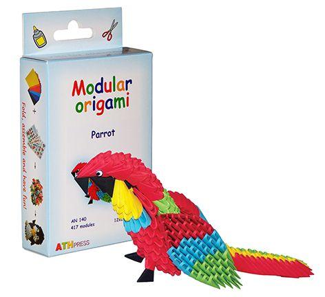 "Комплект Модулно оригами ""Папагал"""