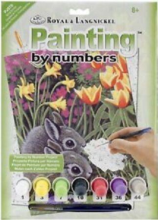 R&L USA A4 # Spring Bunnies - Рисуване по номера * PJS78