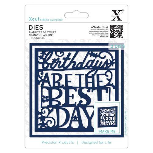 XCUT  DIES, Birthdays Are The Best Days - Комплект щанцa за рязане и релеф