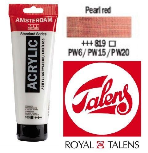 AMSTERDAM ACRYLIC - Акрилна боя за живопис 120 мл. - PEARL RED 819