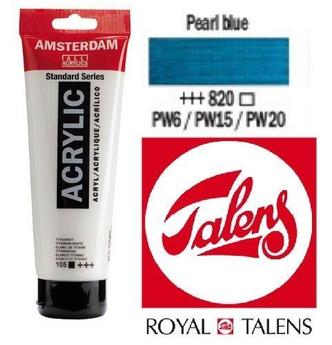 AMSTERDAM ACRYLIC - Акрилна боя за живопис 120 мл. - PEARL BLUE 820