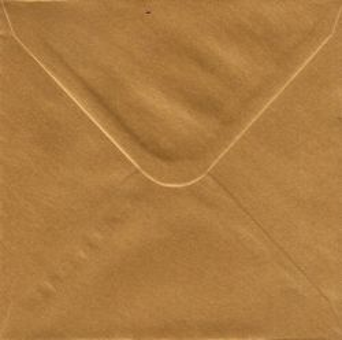 CENTURA ENVELOPES England - Перлени пликове 155 X 155 мм. OLD GOLD