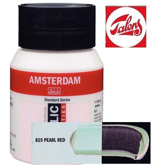 AMSTERDAM ACRYLIC - Акрилна боя за живопис 500 мл. - PEARL RED 819