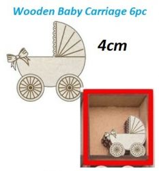 DECO ELEMENTS  BABY CARRIAGE / PRAM  - Дървени `ВИНТИДЖ` мини бeбешки колички 6 бр