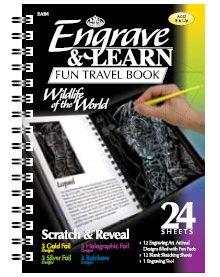 """Engrave & Learn - Книга за гравиране """"12 Диви животни на планетата"""""""
