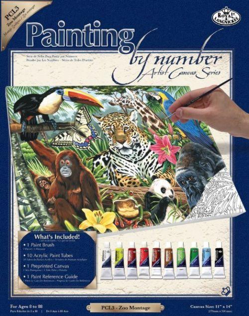 PAINTING by NUMBERS ,USA  - Рисуване по номера на платно 350 x 280mm * PCL3