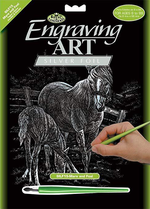 Engraving Art А4 - Картина за гравиране - сребърно фолио
