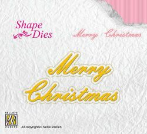 "Nellie Snellen - Shape Dies texts ""Merry Christmas"" -Орнаментни щанци за рязане"