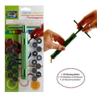 CLAY EXTRUDER CREATIVE - Профи метален шприц за моделини 19 приставки