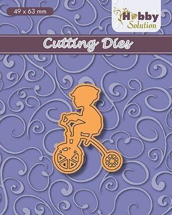 "HS dies ""little boy on trycicle"" (49x63mm) - Фигурална щанца за рязане и релеф"