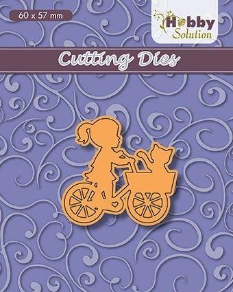"HS dies ""little girl on bike"" 60x57mm) - Фигурална щанца за рязане и релеф"