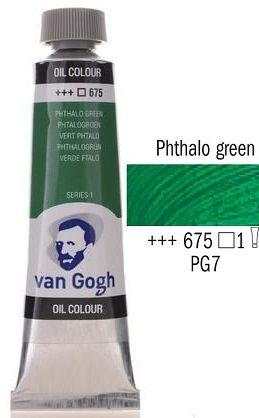 Van GOGH Oil - Маслена боя 40мл - Фтало зелена / 675